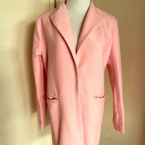 Zara pink coat size small